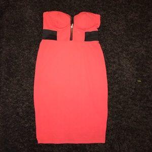 Coral dress material girl XL